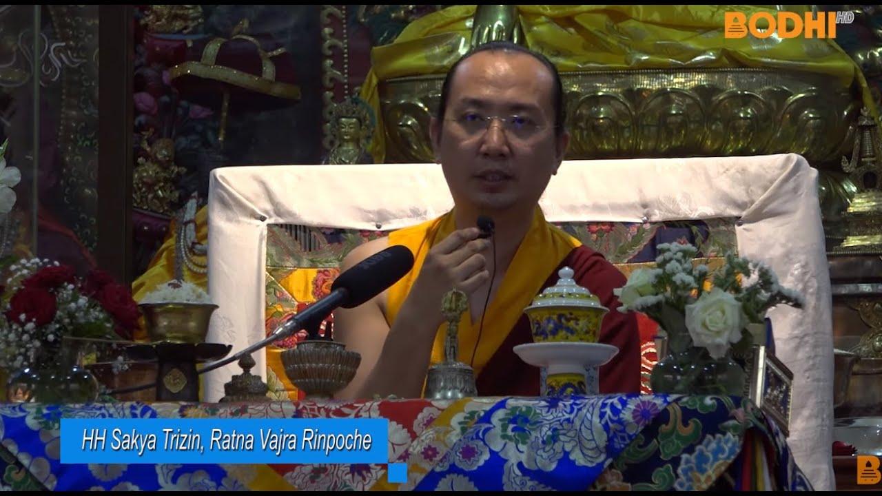 Bodhi TV : News : The H H  42nd Sakya Trizin Ratna Vajra Rinpoche in BYOMA  KUSUMA