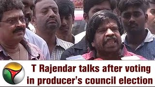Live: T Rajendar talks after voting in producer's council election