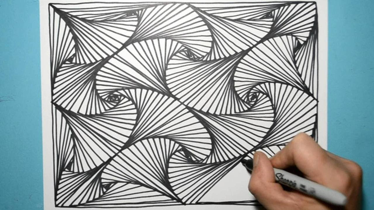 COOL DRAWING PATTERN YOU'LL WANT TO TRY RIGHT AWAY - YouTube