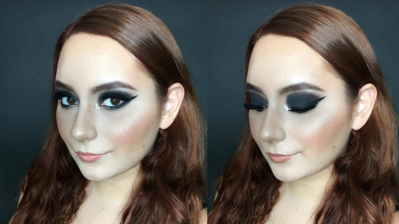 Maquillaje Para Un Vestido Negro Smokey Eye Negro Con Glitter Dorado Alanmakeup