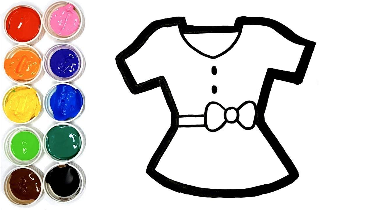 Dessiner Une Robe Arc En Ciel Pour Bebe Coloriage Pour Enfants Youtube