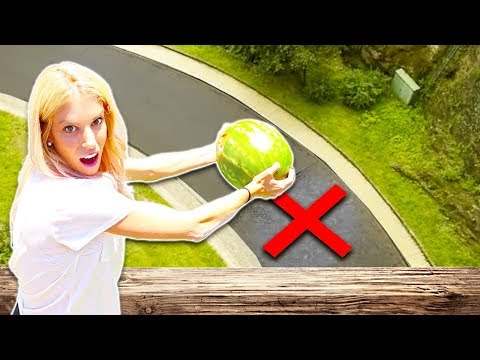 Dropping Watermelon and other fruit from Our Rooftop (60 ft. high)