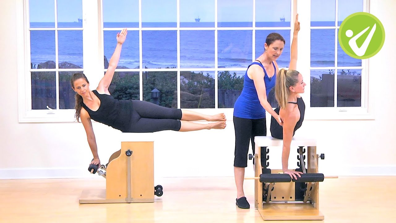 Chair Exercises On Tv Baby Shower Bench Amy Taylor Alpers Pilates Wunda Workout Youtube