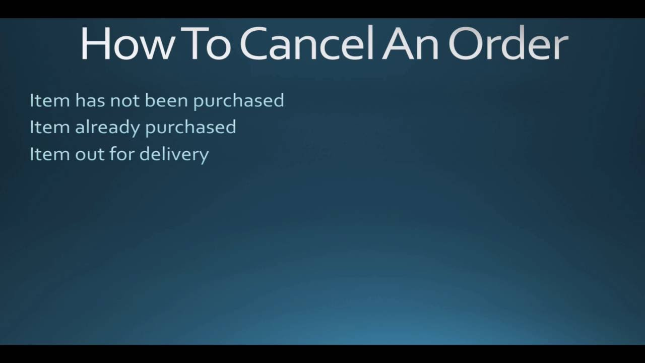 how to cancel an order at home depot youtube. Black Bedroom Furniture Sets. Home Design Ideas
