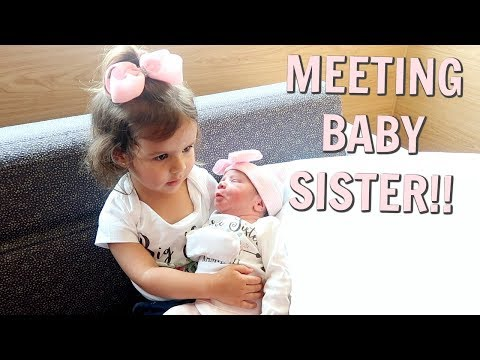 TODDLER MEETS NEW BABY FOR THE FIRST TIME! (CUTEST REACTION)