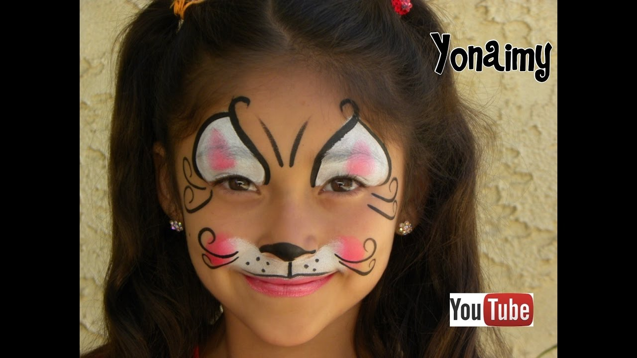 GATITA (PINTACARITAS) .- FACEPAINTIG KITTY CAT - YouTube