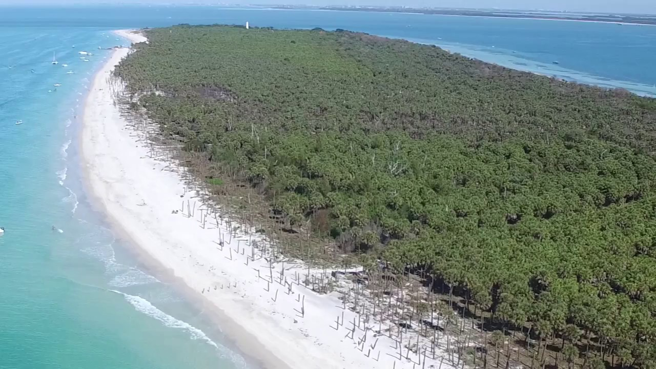Egmont Key And Bean Point Anna Maria Island Aerial Drone Footage