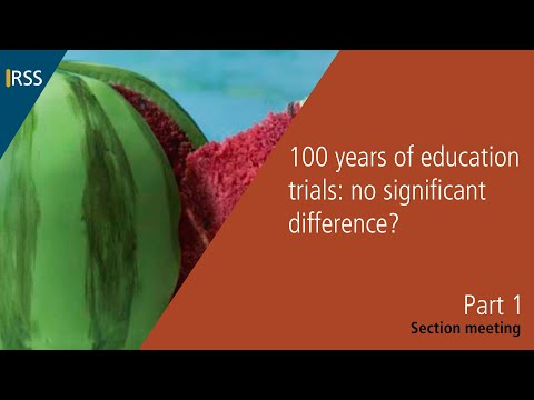100 years of education trials: no significant difference? Part 1