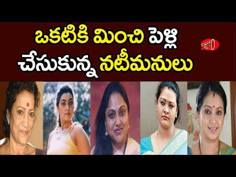 Tollywood TOP 10 Heroines Who Got Married Many Times | Gossip Adda
