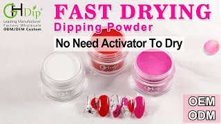 Purple Color Dip Nail art by Fast Drying Dip Powder Sytem