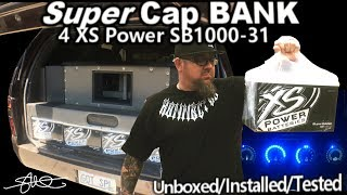 XS Power Super Cap Banks Unboxed, Installed, Tested - 4 SB1000-31 4000 farad (Before & After)