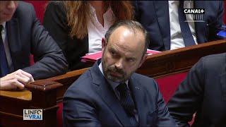 E. Philippe subit (encore) les réactions de l'Assemblée - L'info du vrai du 11/12 - CANAL+