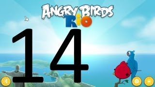 Let's Play Angry Birds Rio 14 - High-Impact Shenanigans!