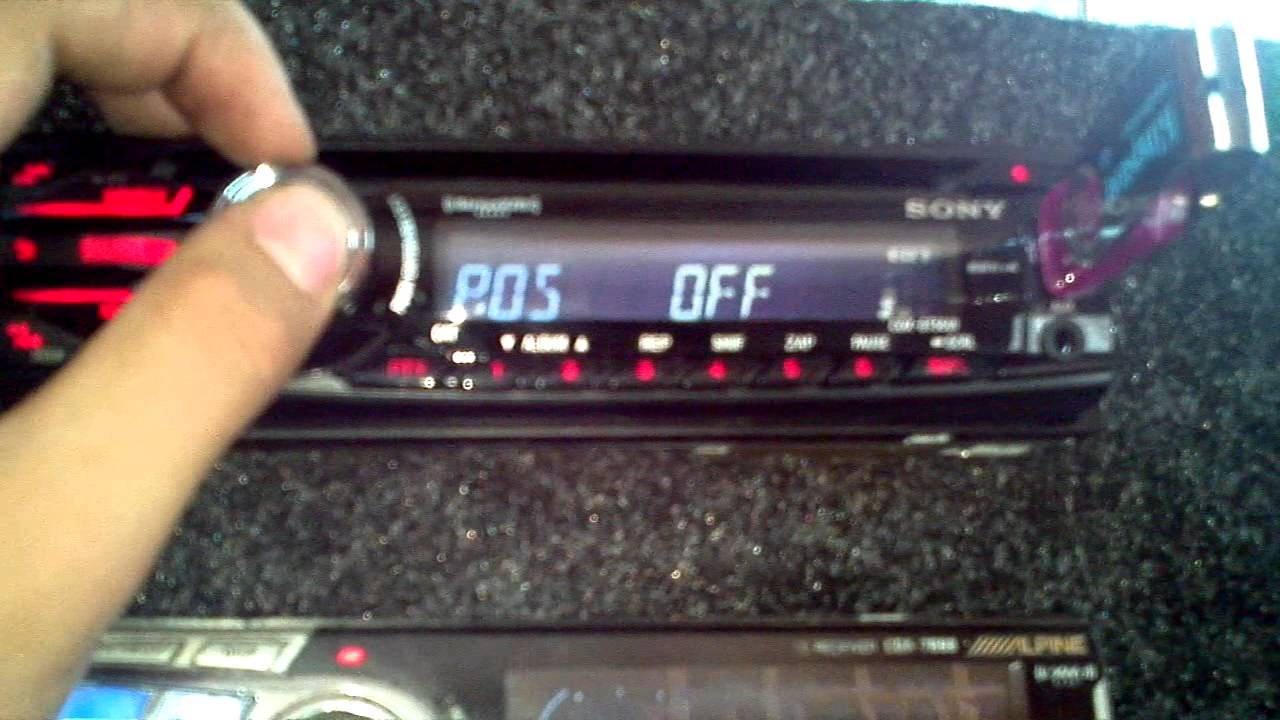 sony xplod radio camping trailer usa cdx-gt56ui - youtube