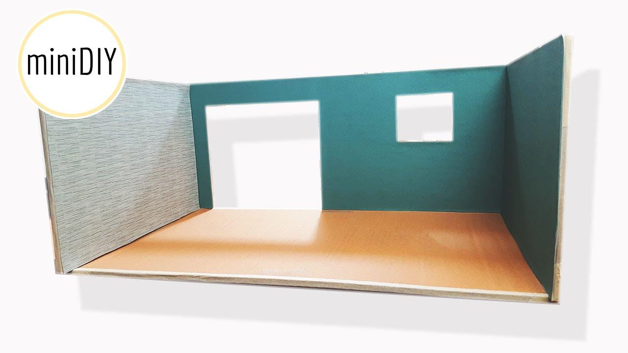 DIY Miniature Room Box Dollhouse MiniDIY YouTube - Box room