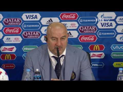 RUS v POR - Stanislav Cherchesov - Russia Post-Match Press Conference