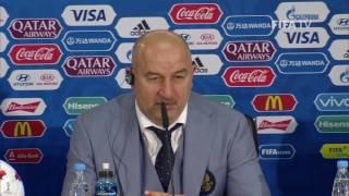 RUS v POR Stanislav Cherchesov Russia Post Match Press Conference