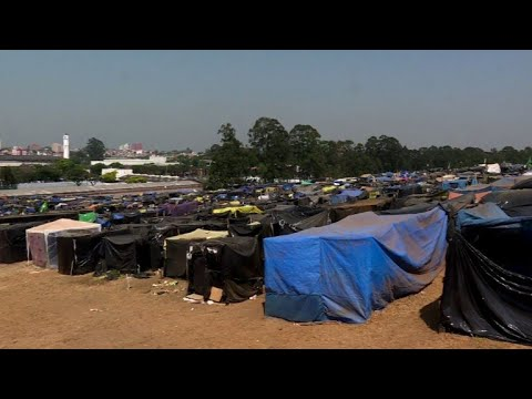 Brazil's high rents force thousands into makeshift camp