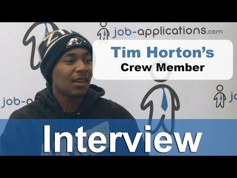Tim Horton's Interview - Crew Member
