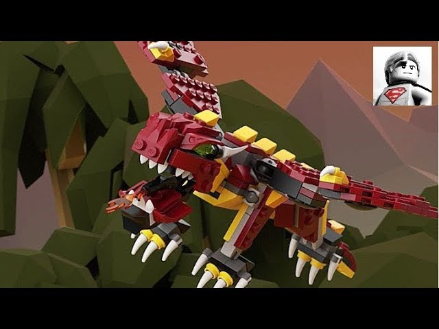Lego Creator - Dragon - Mythical Creatures - 31073 - Lego Speed Build