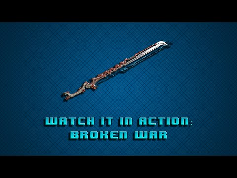 Warframe Watch it in action Weapons Edition: Broken War! Its awesome with no forma!