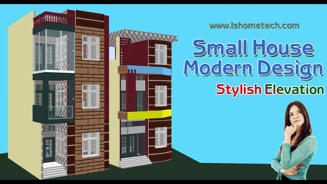 New Home Design with Stylish Elevation, 19×27 Feet small space.