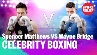 Spencer Matthews vs Wayne Bridge | Celebrity Boxing - Sport Relief 2018 - BBC