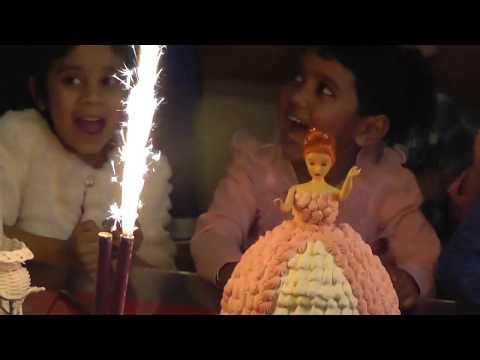 Riha's 4th Birthday Party | Happy Birthday To You | Kids Birthday Celebration | Barbie Cake Birthday