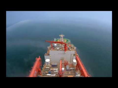 West Aquila Drillship Departing for Sea Trial