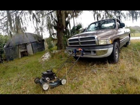 Lawn Mower Plus Pickup Truck Gopro Camera Youtube