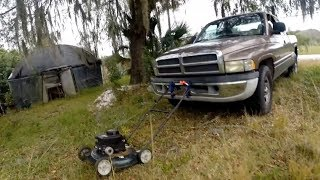 Lawn Mower plus Pickup Truck GOPRO camera