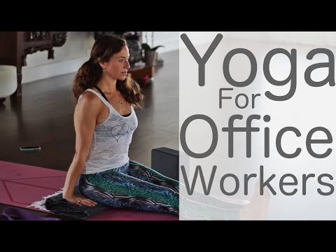 Yoga for Office Workers Featuring HealthnutNutrition With Fightmaster Yoga