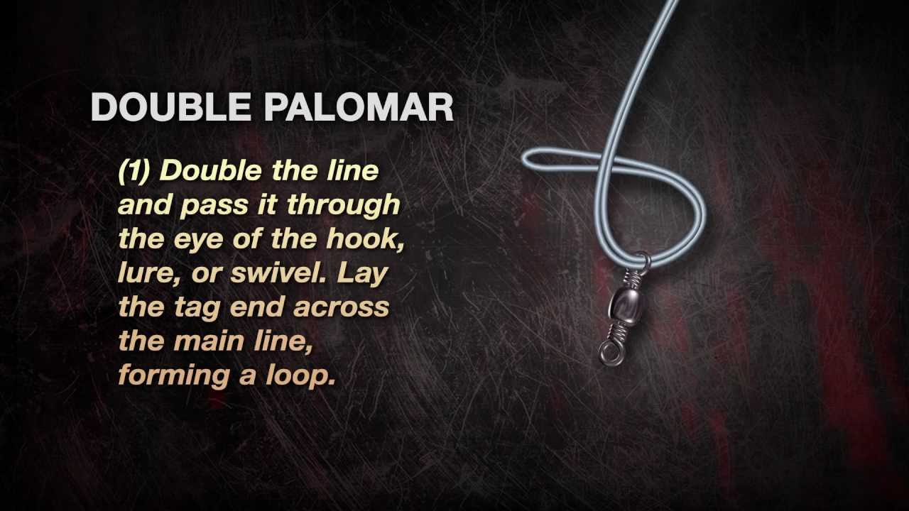Uglystik how to tie a double palomar knot dunham 39 s for Braided fishing line knot