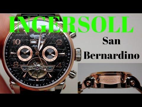 (4K) INGERSOLL SAN BERNARDINO MEN'S WATCH REVIEW MODEL: IN4514RBK