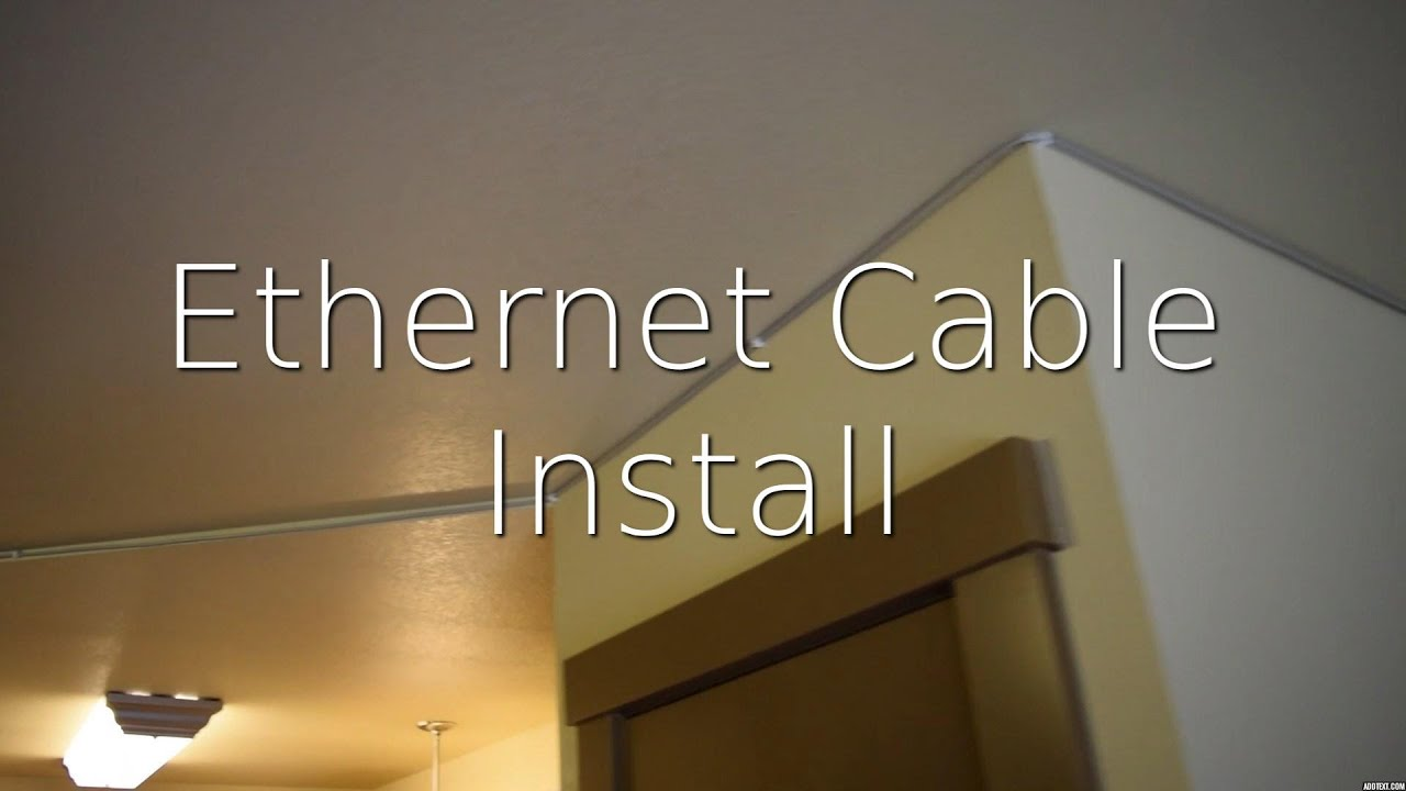 Install Ethernet In Another Room Congested Wifi Youtube