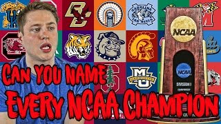 Can YOU NAME Every NCAA Basketball Champion?!