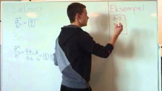 Video Matematik At dividere to potenser med samme eksponent