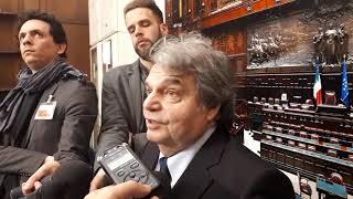 Renato Brunetta oggi in sala stampa a Montecitorio su centrodestra