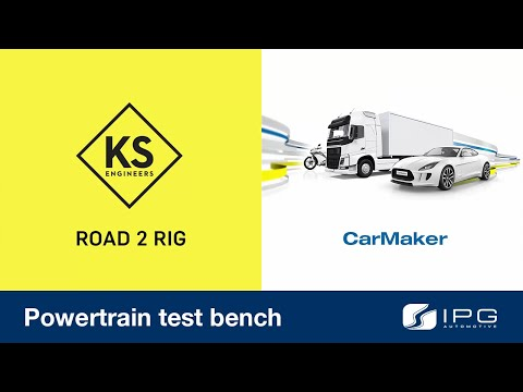 Perfect interplay of real testing and simulation: CarMaker on a KS Engineers powertrain test bench