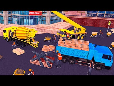 City Hospital Building Construction Building Games Gameplay Android Game by MobilMinds Apps