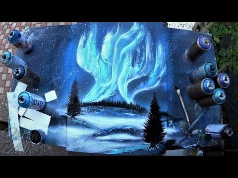 SPRAY PAINT ART by Skech  - Aurora Borealis