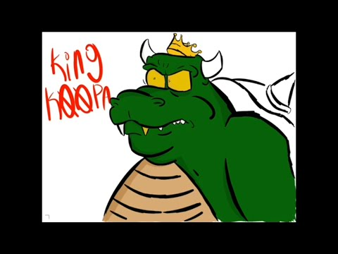 RIP Harvey Atkin voice of king koopa from the super Mario bros super show.(speed paint)