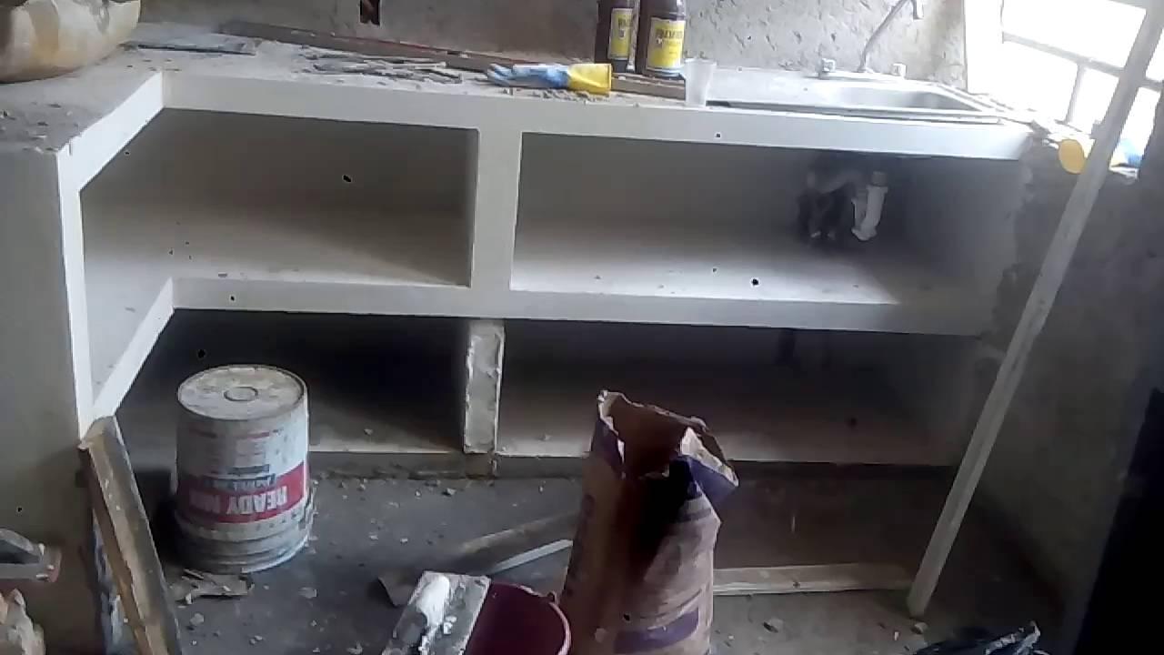 Trabajo de alba iler a pretiles con alasena trabaj for Cocinas hechas de cemento