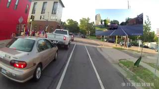 passing on the right in a bike lane