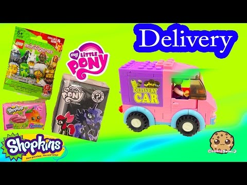 Blind Bag Delivery Car Video Unboxing Shopkins Season 4 Surprise , My Little Pony Mystery Box & Lego