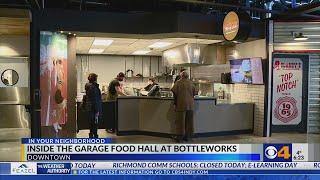 Inside the Garage Food Hall at Bottleworks