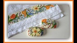 Cómo hacer decoupage sobre tela y jabones - Decoupage textil - Técnicas decorativas - DIY - Tutorial