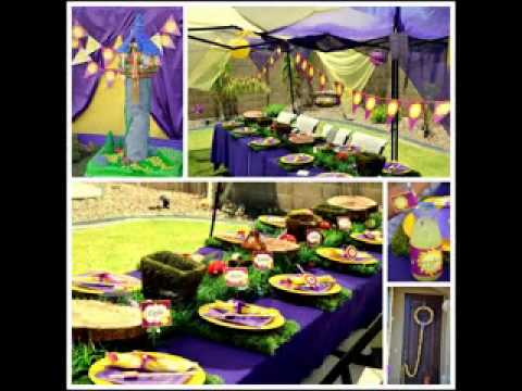 DIY tangled birthday party decorating ideas YouTube