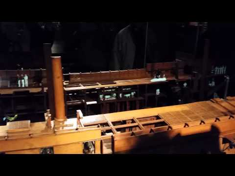 Rijksmuseum ship model display with holograms