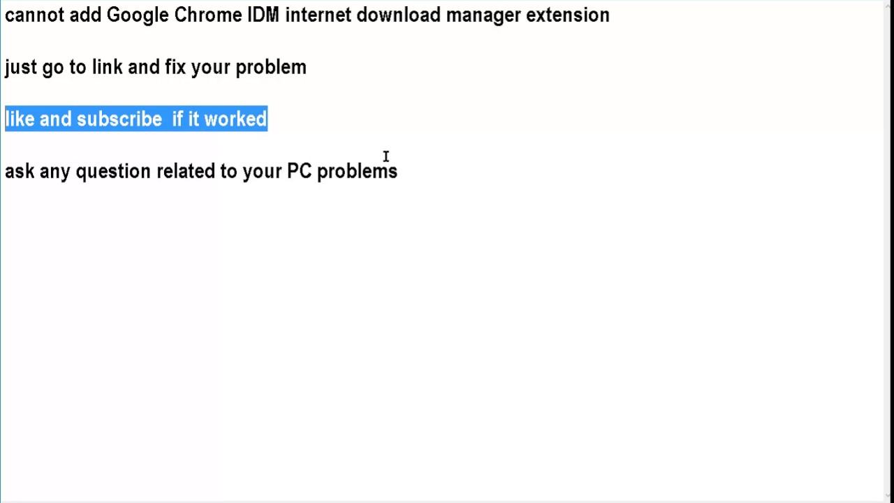 Add On Google Chrome Idm
